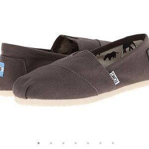 Toms classic ash brown canvas slip on shoe-6